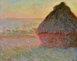 Haystack at Sunset | Monet | Painting Reproduction
