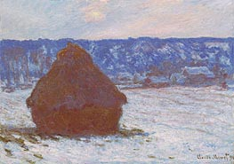 Stack of Wheat (Snow Effect, Overcast Day) | Monet | Painting Reproduction