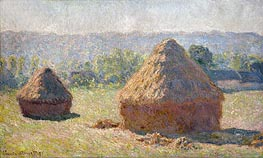 The Haystacks or The End of the Summer at Giverny | Monet | Gemälde Reproduktion