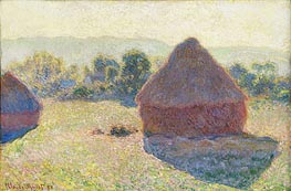 Haystacks in the Sunlight, Midday | Monet | Gemälde Reproduktion