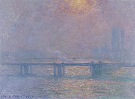 The Thames at Charing Cross | Monet | Gemälde Reproduktion