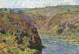 Ravine of the Creuse, Sunlight Effect, 1889 by Monet | Painting Reproduction