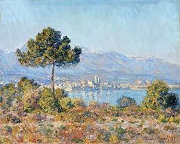 Antibes Seen from the Plateau Notre Dame | Monet | Gemälde Reproduktion