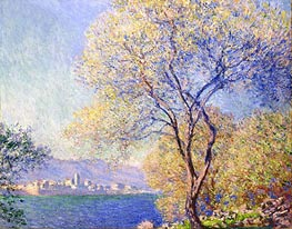 Antibes Seen from the Salis Garden, 1888 by Monet | Painting Reproduction
