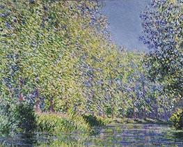 A Bend in the River Epte, Near Giverny | Monet | Gemälde Reproduktion