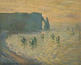 The Rocks, Etretat, 1886 by Monet | Painting Reproduction