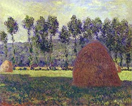 Haystacks at Giverny, c.1884/89 by Monet | Painting Reproduction
