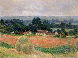 Haystack at Giverny, 1886 by Monet | Painting Reproduction