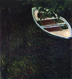 The Empty Boat, c.1887/90 by Monet | Painting Reproduction