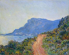 The Corniche near Monaco, 1884 by Monet | Painting Reproduction