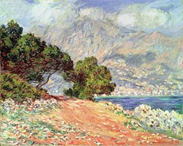 Menton Seen from Cap Martin, 1884 by Monet | Painting Reproduction