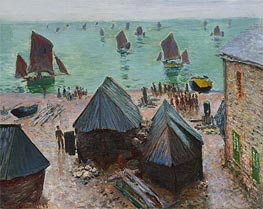 The Departure of the Boats, Etretat | Monet | Painting Reproduction