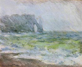 Etretat in the Rain | Monet | Painting Reproduction