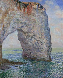 The Manneporte near Etretat, 1886 by Monet | Painting Reproduction