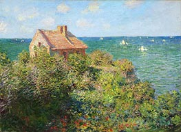 Fisherman's Cottage on the Cliffs at Varengeville | Monet | Gemälde Reproduktion