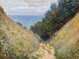 Road at La Cavee, Pourville | Monet | Gemälde Reproduktion