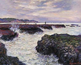 The Rocks at Pourville, Low Tide | Monet | Painting Reproduction