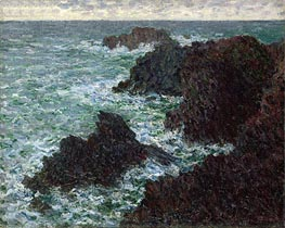The Rocks at Belle-Ile, the Wild Coast | Monet | Gemälde Reproduktion