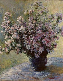 Bouquet of Mallows (Vase of Flowers) | Monet | Painting Reproduction