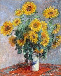 Bouquet of Sunflowers | Monet | Painting Reproduction