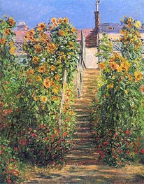 The Steps at Vetheuil | Monet | Gemälde Reproduktion