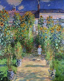 The Artist's Garden at Vetheuil | Monet | Gemälde Reproduktion