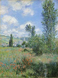 View of Vetheuil, 1880 by Monet | Painting Reproduction