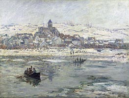 Vetheuil in Winter | Monet | Gemälde Reproduktion