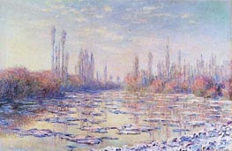 The Floating Ice, 1880 von Monet | Gemälde-Reproduktion
