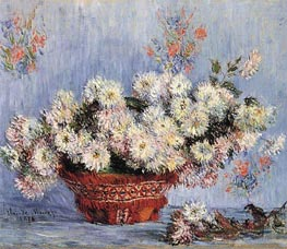 Chrysanthemums, 1878 von Monet | Gemälde-Reproduktion