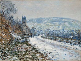 Entrance to the Village of Vetheuil in Winter, 1879 von Monet | Gemälde-Reproduktion