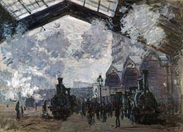 The Gare St-Lazare, 1877 von Monet | Gemälde-Reproduktion