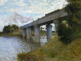 The Railway Bridge at Argenteuil, c.1873/74 von Monet | Gemälde-Reproduktion