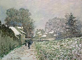 Snow at Argenteuil, c.1874/75 by Monet | Painting Reproduction