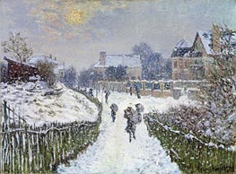 Boulevard Saint-Denis, Argenteuil, in Winter, 1875 von Monet | Gemälde-Reproduktion
