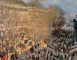 The Boulevard des Capucines, 1873 by Monet | Painting Reproduction