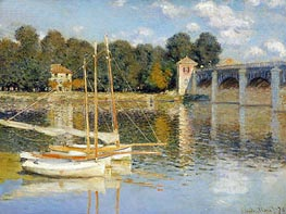 The Bridge at Argenteuil, 1874 von Monet | Gemälde-Reproduktion