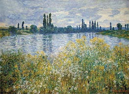 Banks of the Seine, Vetheuil, 1880 by Monet | Painting Reproduction