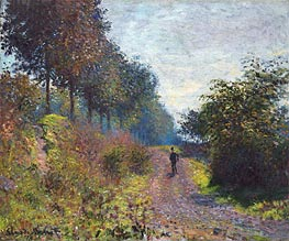 The Sheltered Path, 1873 von Monet | Gemälde-Reproduktion