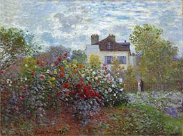 The Artist's Garden in Argenteuil (The Dahlias), 1873 by Monet | Painting Reproduction