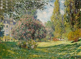 Landscape: The Parc Monceau, Paris, 1876 by Monet | Painting Reproduction