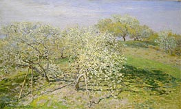 Spring (Fruit Trees in Bloom), 1873 von Monet | Gemälde-Reproduktion