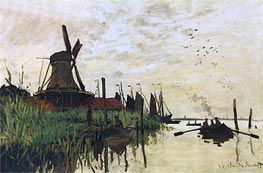 Windmill at Zaandam, 1872 von Monet | Gemälde-Reproduktion