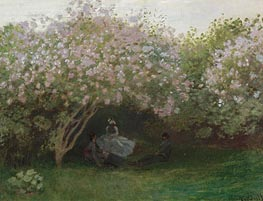 Lilacs, Grey Weather | Monet | Gemälde Reproduktion