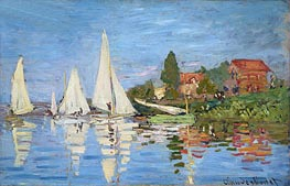Regatta at Argenteuil, c.1872 von Monet | Gemälde-Reproduktion