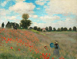 Poppies at Argenteuil, 1873 von Monet | Gemälde-Reproduktion