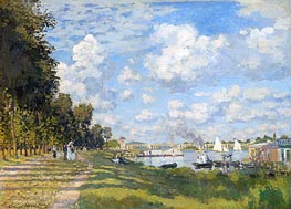 The Basin at Argenteuil, 1872 von Monet | Gemälde-Reproduktion