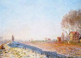 The Plain of Colombes, White Frost | Monet | Painting Reproduction