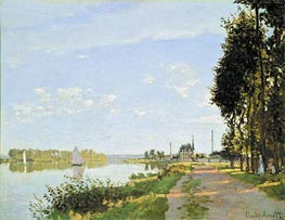 The Promenade at Argenteuil, c.1872 von Monet | Gemälde-Reproduktion