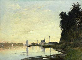 Argenteuil, Late Afternoon, 1872 von Monet | Gemälde-Reproduktion